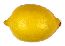 Lemon. Yellow fruit piece isolated on white Royalty Free Stock Image