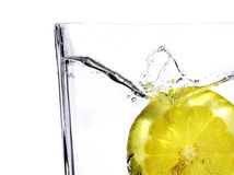 Lemon. Slice in the water, abstract Royalty Free Stock Images