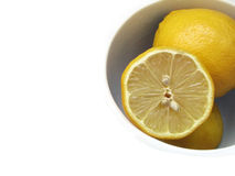 Lemon. Background with a free white space Royalty Free Stock Photography