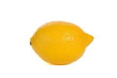 Lemon. Single ripe lemon isolated on white background stock photography