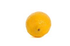 Lemon. Single ripe lemon isolated on white background royalty free stock photography
