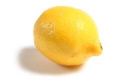Lemon. Single lemon isolated on white Stock Photography