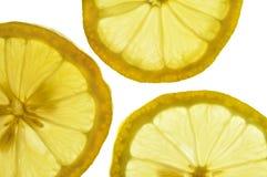 Lemon. Slices isolated on white Royalty Free Stock Photo