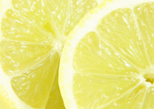 Lemon. Close-up of two lemon halfs Royalty Free Stock Images