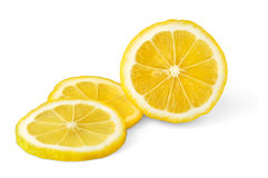 Isolated lemon stock photography