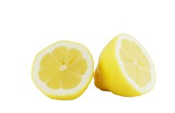 Lemon. Isolated lemon on white background Stock Photography