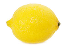 Lemon. A lemon isolated over white Royalty Free Stock Images