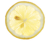 Lemon. A yellow section of a lemon isolated over white Royalty Free Stock Images