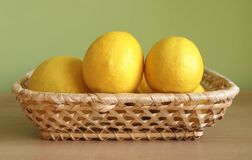Lemon. Some lemon with green background Stock Image