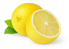 Isolated cut lemon stock image