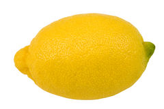 Lemon. Isolated on white, clipping path included Stock Images