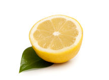 Lemon. Isolated over white background royalty free stock photography