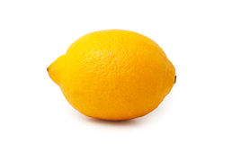 Lemon. Isolated over white background stock images