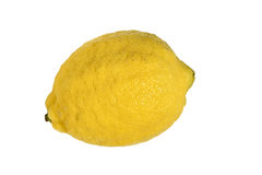 Lemon. The close-up of lemon with white background Royalty Free Stock Photography