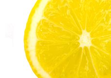 Lemon. Extreme close-up view of the lemon slice royalty free stock photos