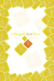 Lemon. Background of the square of bright ripe lemons Royalty Free Stock Photography