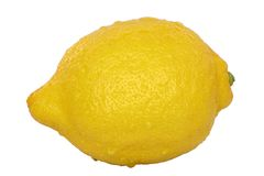 Lemon. A isolated lemon on a white background Royalty Free Stock Photos