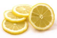 Lemon. Slices on white background Royalty Free Stock Image