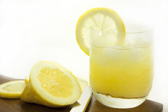 Lemon. Slices with a glass of ade Stock Photos