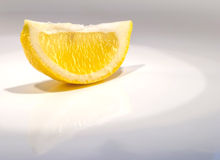 Lemon. On white gray background royalty free stock image