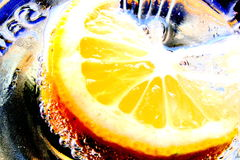 Lemon. Soda Stock Photo