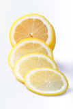Lemon. Segments on a white background Royalty Free Stock Images