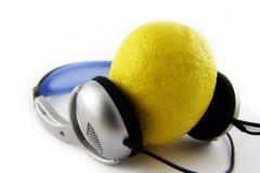 Lemon. Listen music too Stock Photography