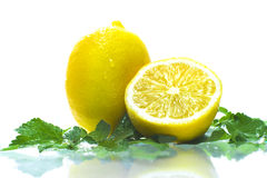 Lemon. Isolated on white background Stock Images