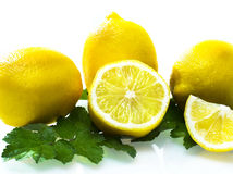 Lemon. Isolated on white background Stock Photography