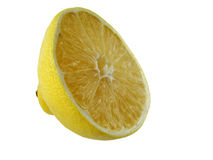 Lemon. Half of lemon in the white background stock photography