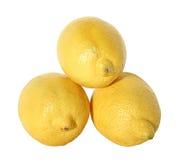 Lemon. Three lemons on a white background Stock Photo
