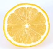 Lemon. On white, lemon slice royalty free stock photo