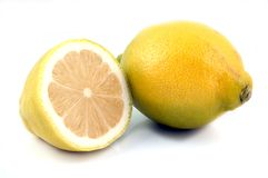 Lemon. Yellow Lemon Half Stock Photo