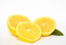Lemon. Slices of lemon isolated on a white background Stock Photography
