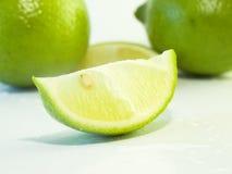 Lemon. Macro on white background royalty free stock photos