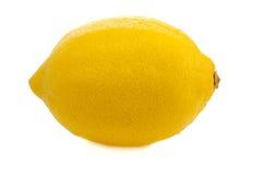 Lemon. Yellow large lemon on a white background Royalty Free Stock Images