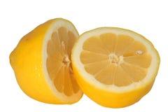 Lemon. The fresh lemon is cut попоолам on two parts Stock Image