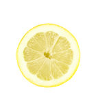 Lemon. Slice of lemon on a white background Royalty Free Stock Photos