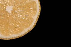 Lemon. Close-up Royalty Free Stock Image