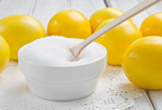 Lemon acid Royalty Free Stock Photos
