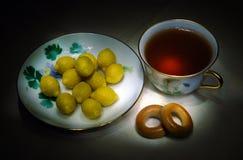 Lemon afternoon tea Stock Image