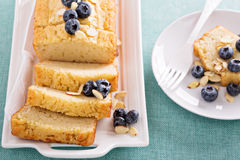 Lemon and almond pound cake Stock Image