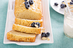 Lemon and almond pound cake Royalty Free Stock Image