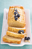 Lemon and almond pound cake Stock Images