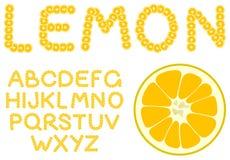 Lemon alphabet Royalty Free Stock Photography