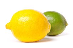 Lemon And Green Lime Royalty Free Stock Image