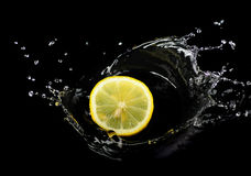Lemon And Water Stock Image