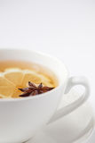 Lemon & anise herbal tea Stock Images