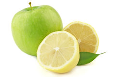 Lemon and apple Stock Photos