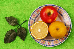 Lemon and apple Stock Photo